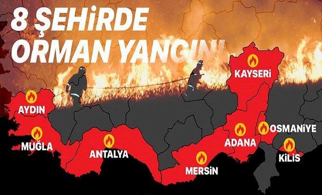 Türkiye'nin alevlerle mücadelesi...